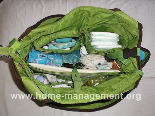 my organized diaper bag