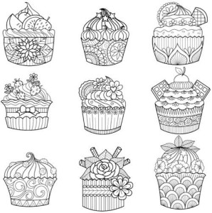 doodle cup cake